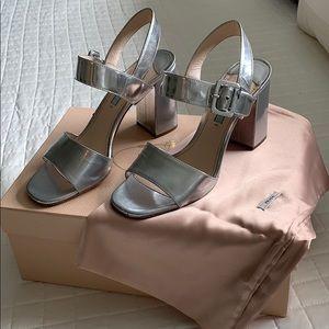 Prada silver sandal